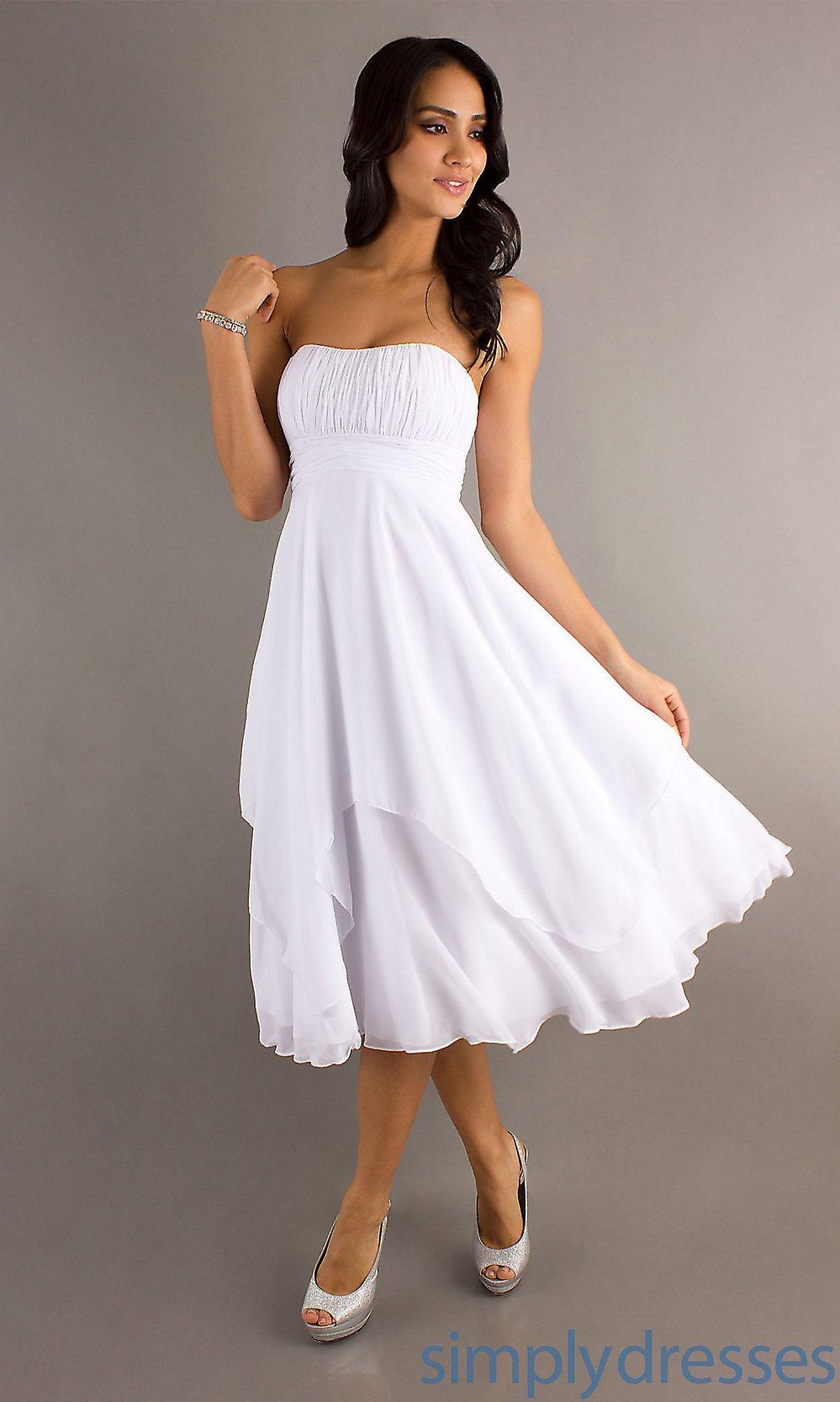 vestido simples branco