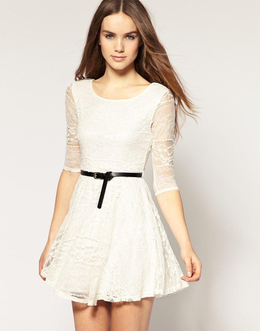 vestido simples e elegante branco
