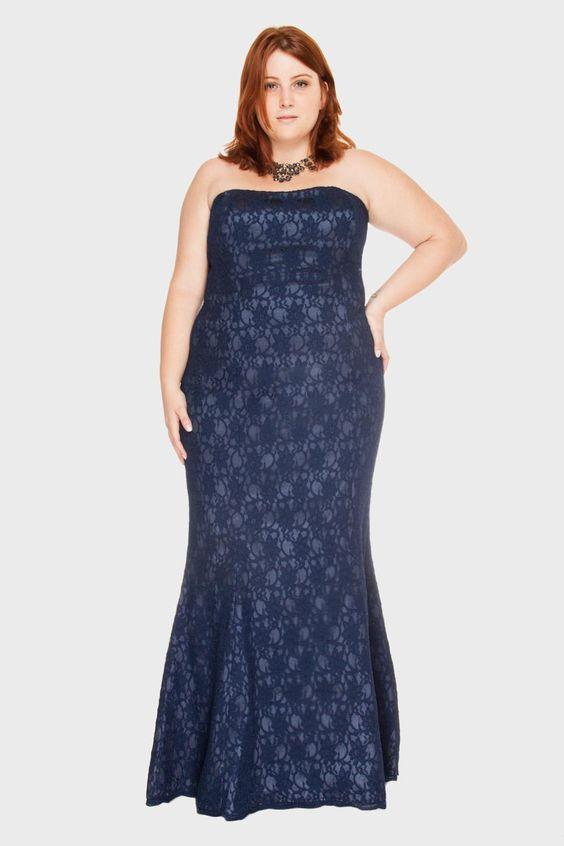 vestido tomara caia plus size azul