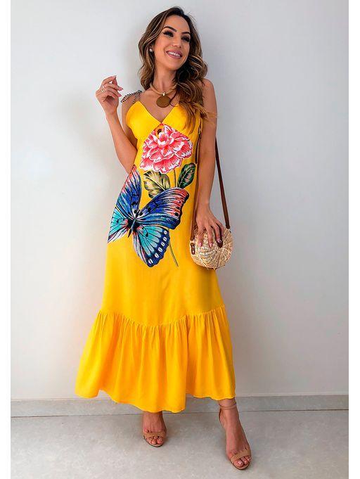 vestido verao amarelo