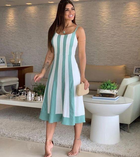 vestido verao bicolor