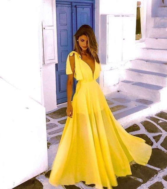 vestido verao neon