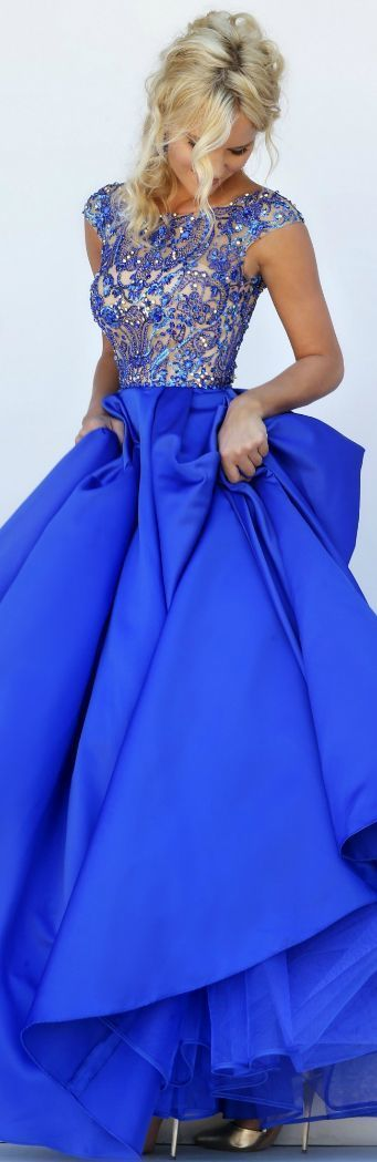 vestidos azul royal 1