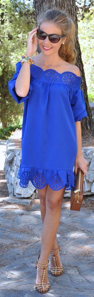 vestidos azul royal 2
