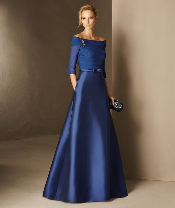 vestidos azul royal 4