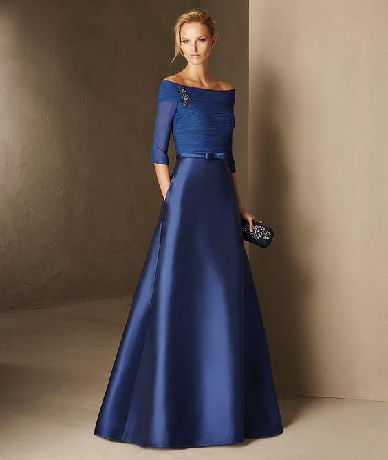 vestidos azul royal 4