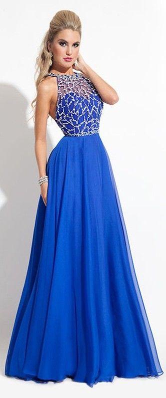 vestidos azul royal 8