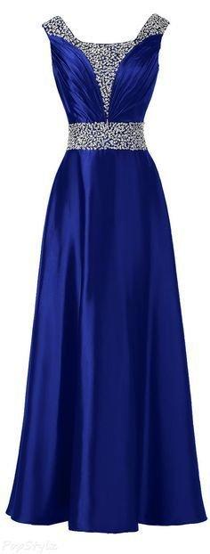 vestidos azul royal 9
