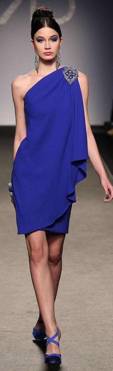 vestidos azul royal