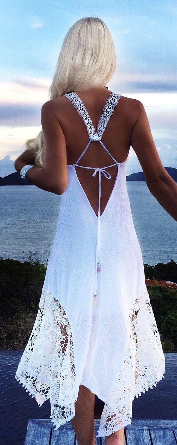 vestidos bonitos branco
