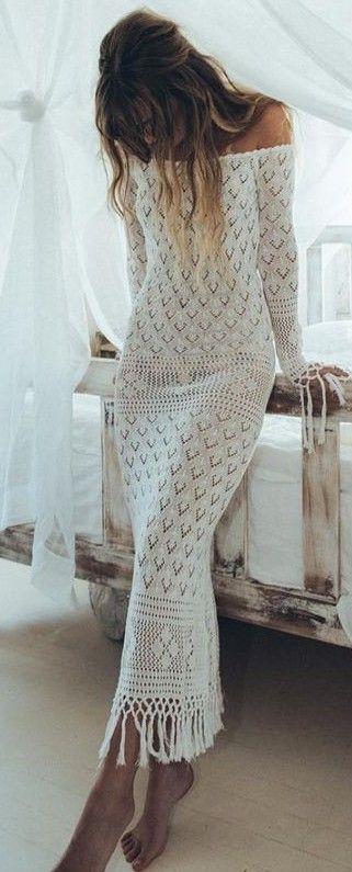 vestidos bonitos croche