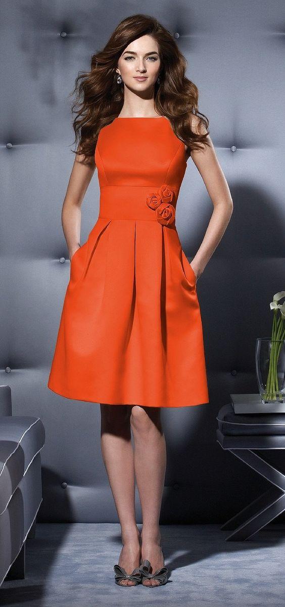 vestidos bonitos laranja