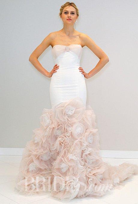 vestidos de noiva 2016 com cauda rosa