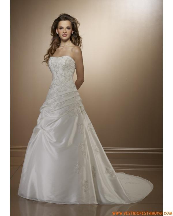 vestidos de noiva tomara que caia com espartilho e renda