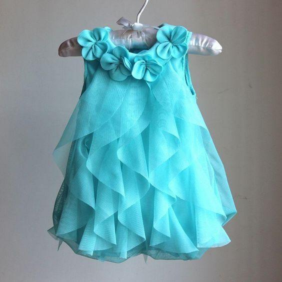 vestidos festa menina azul