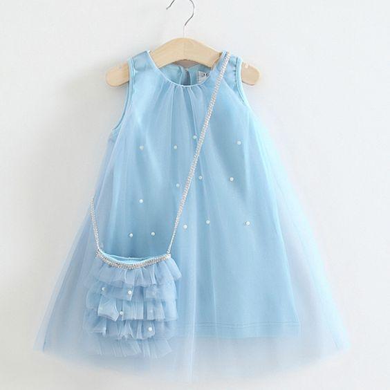 vestidos festa menina bolsinha
