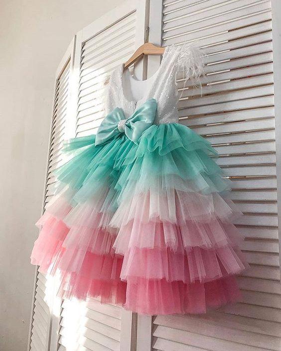 vestidos festa menina colorido