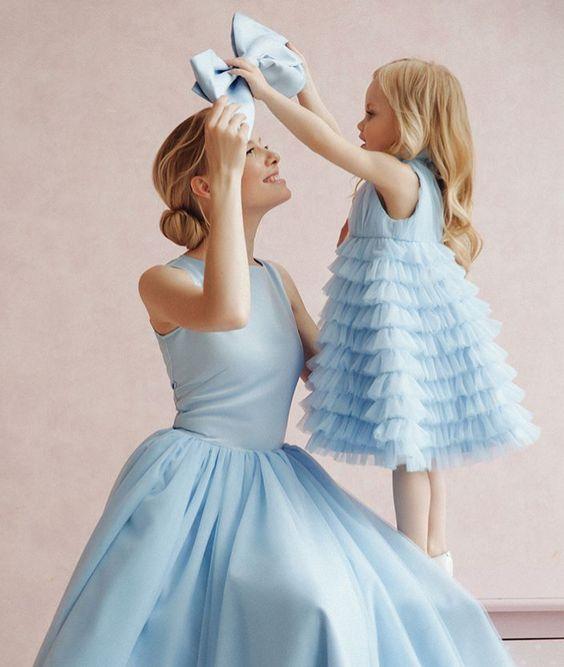 vestidos festa menina mae filha