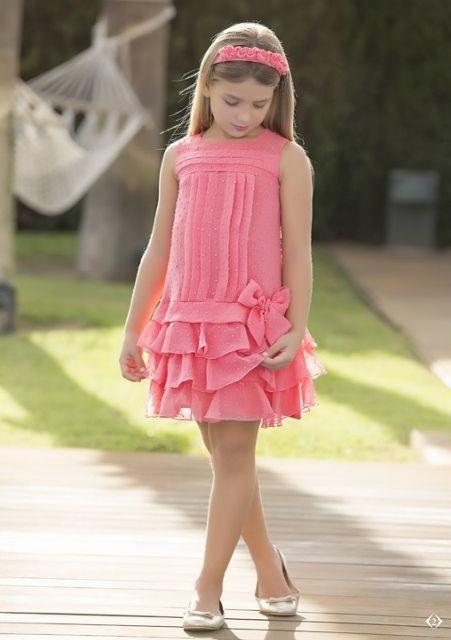 vestidos festa menina pink