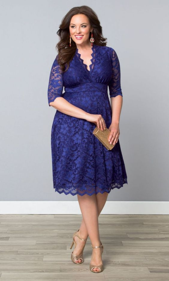 vestidos gg azul