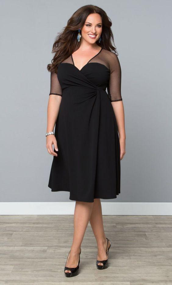 vestidos gg preto