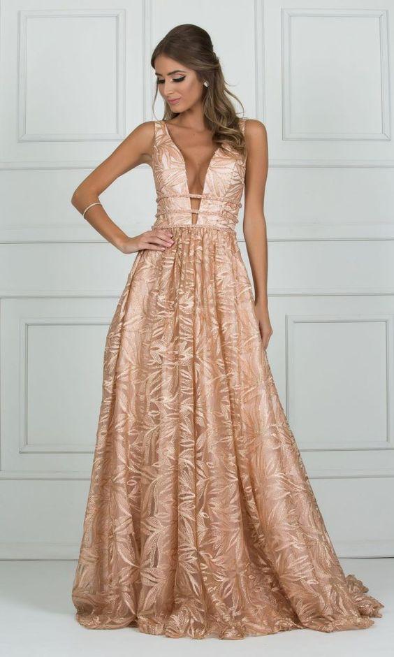 vestidos madrinha casamento rose gold