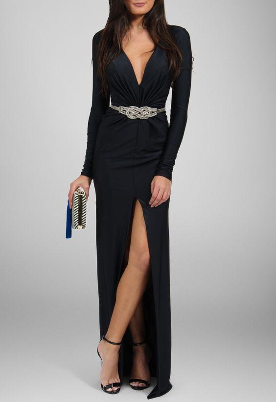 vestidos manga comprida 6