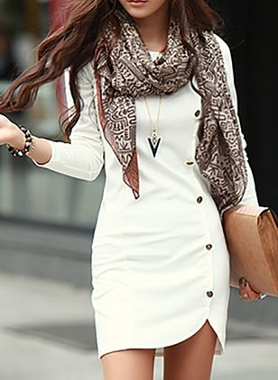 vestidos manga comprida