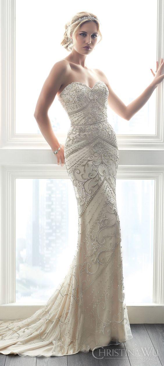 vestidos noiva Christina Wu perolas