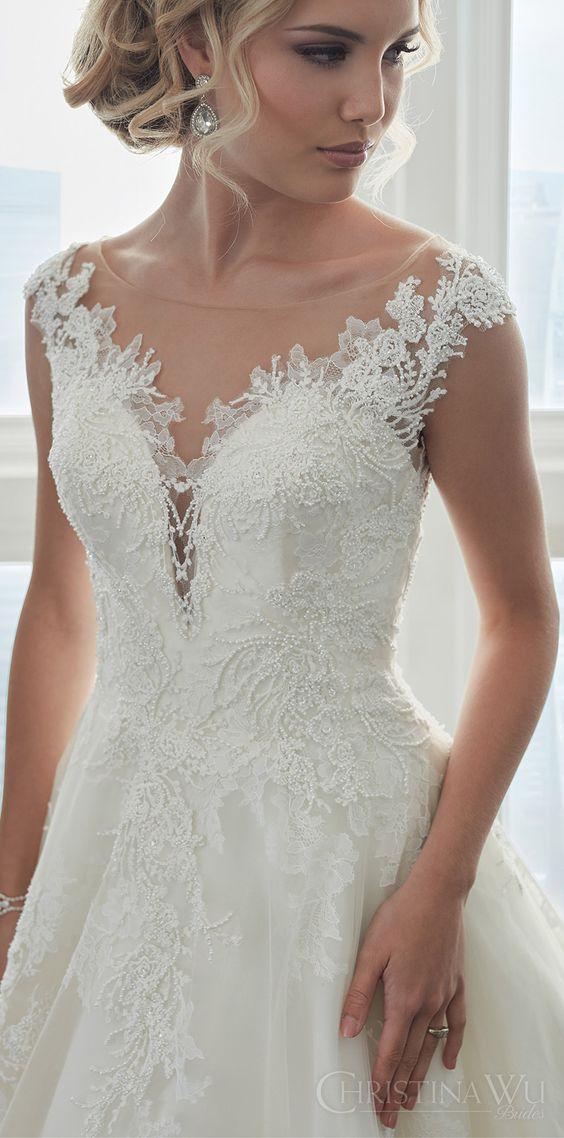 vestidos noiva Christina Wu pormenor