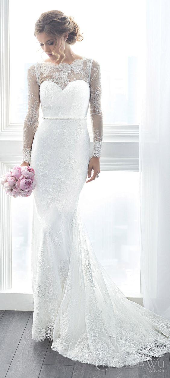 vestidos noiva Christina Wu sereia