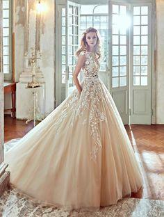 vestidos noiva coloridos creme
