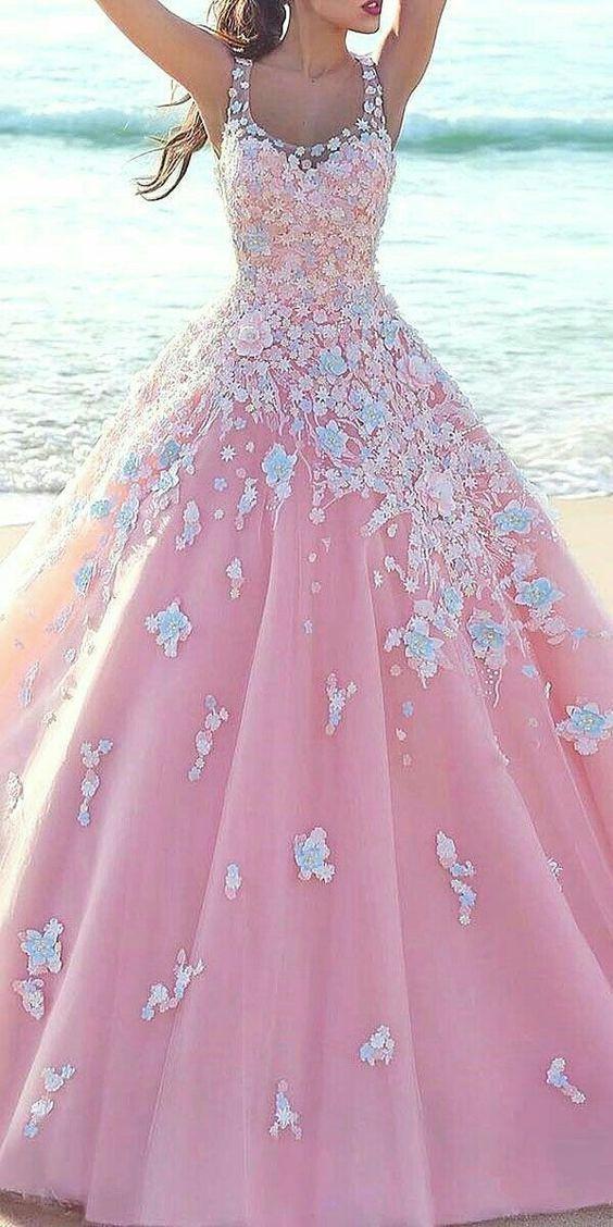 vestidos noiva coloridos rosa 1