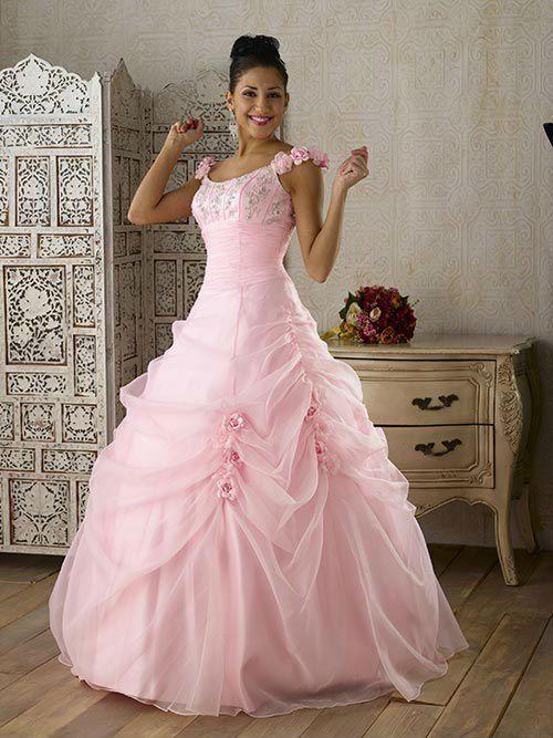vestidos noiva coloridos rosa 2