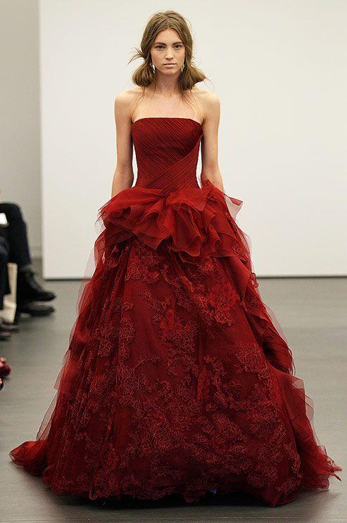 vestidos noiva coloridos vermelho
