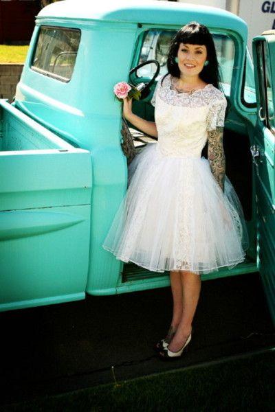 vestidos noiva pin up