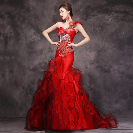 vestidos noiva vermelhos 1