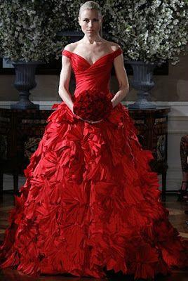 vestidos noiva vermelhos