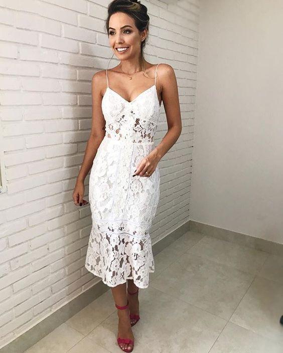 vestidos renda branco