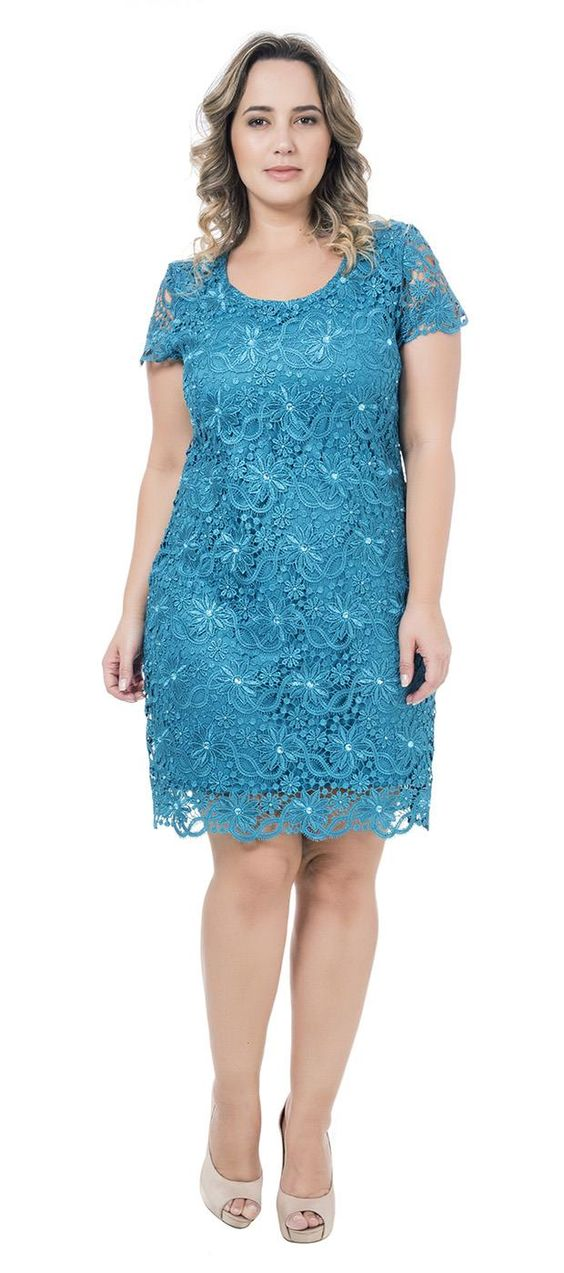 vestidos renda plus size