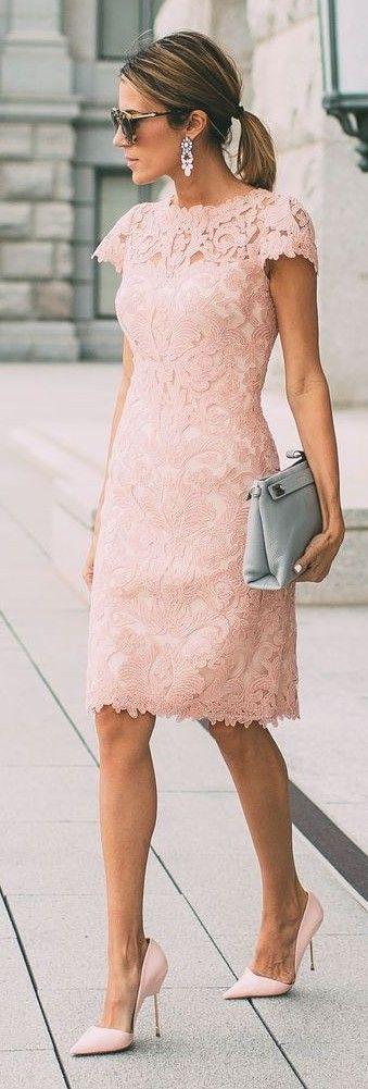 vestidos renda rosa