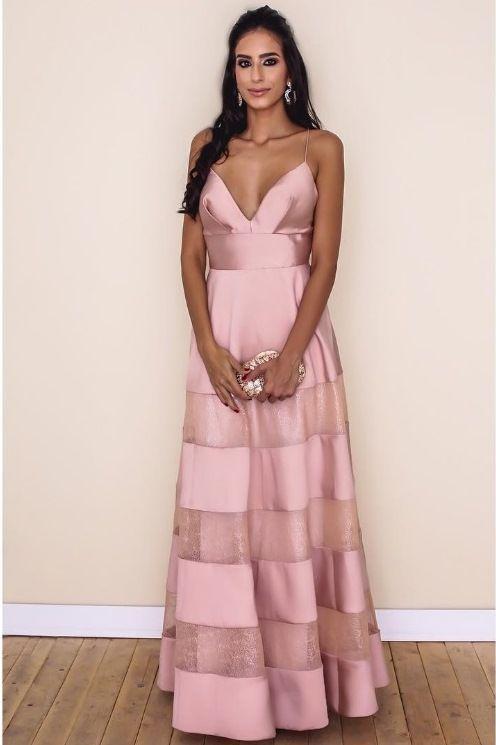vestidos reveillon 2018 rosa